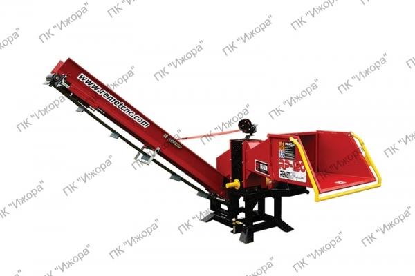 Рубительные машины ВОМ для производства дров с поворотным конвейером