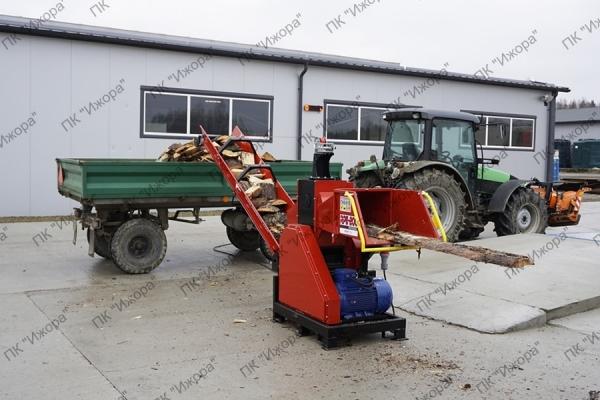 Рубительные машины для производства дров с электрическим двигателем