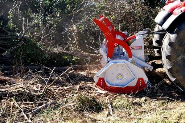 TFV – VOLTA – лесной мульчер с молотками, вращающимися на 360°, для тракторов 60-150 л.с.