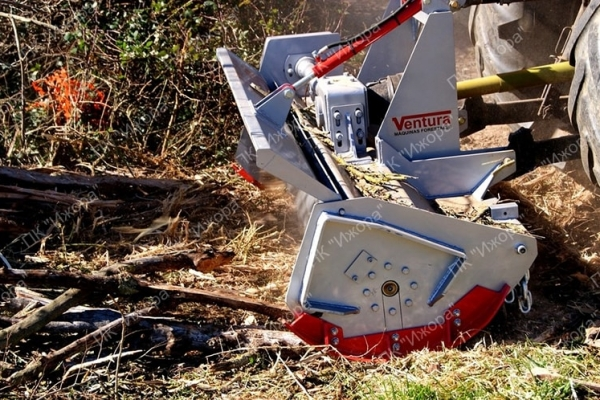TFVJ–AMUR – лесной мульчер с фиксированными молотками из сверхпрочного твердосплавного покрытия для тракторов 40-130 л.с.